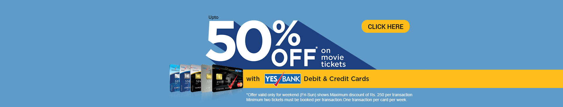 Yes Bank 50% off